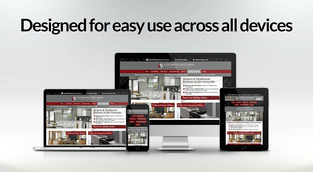 Mobile friendly website - easy to use across all devices